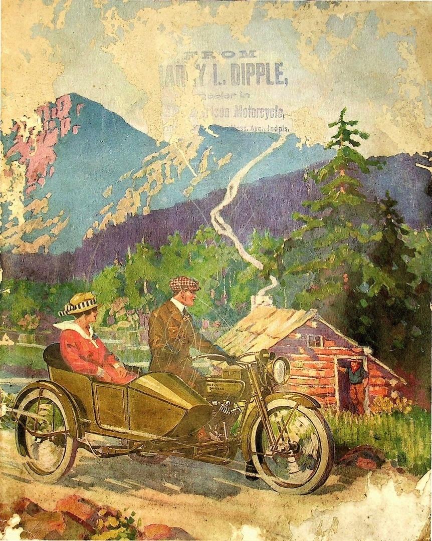 1918 - Portada de folleto de ventas