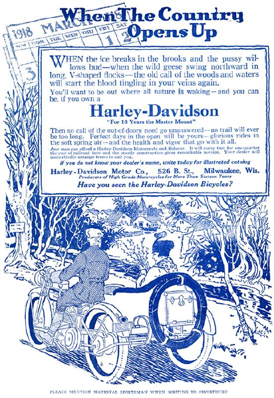 1918 - Harley-Davidson When the Country Opens Up