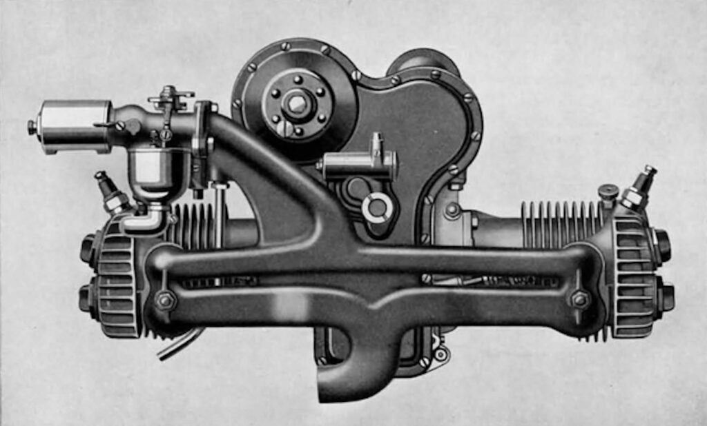 Motor W SportTwin - Vista lateral