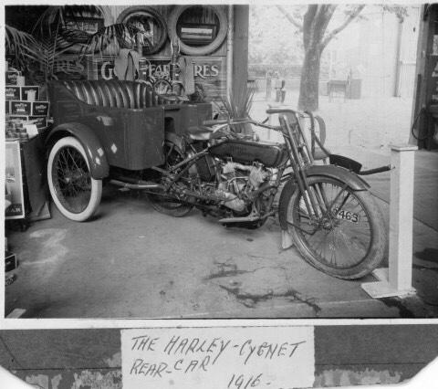 1916-Harley-Davidson Rear Car