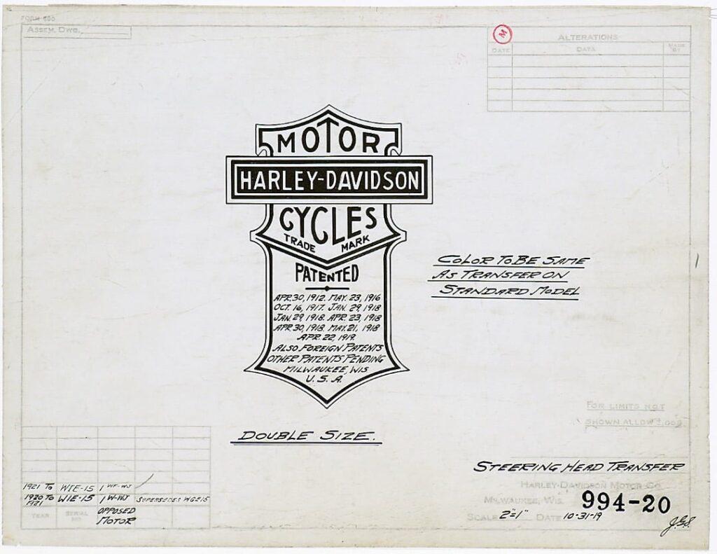 1919 - Patente logo Harley-Davidson