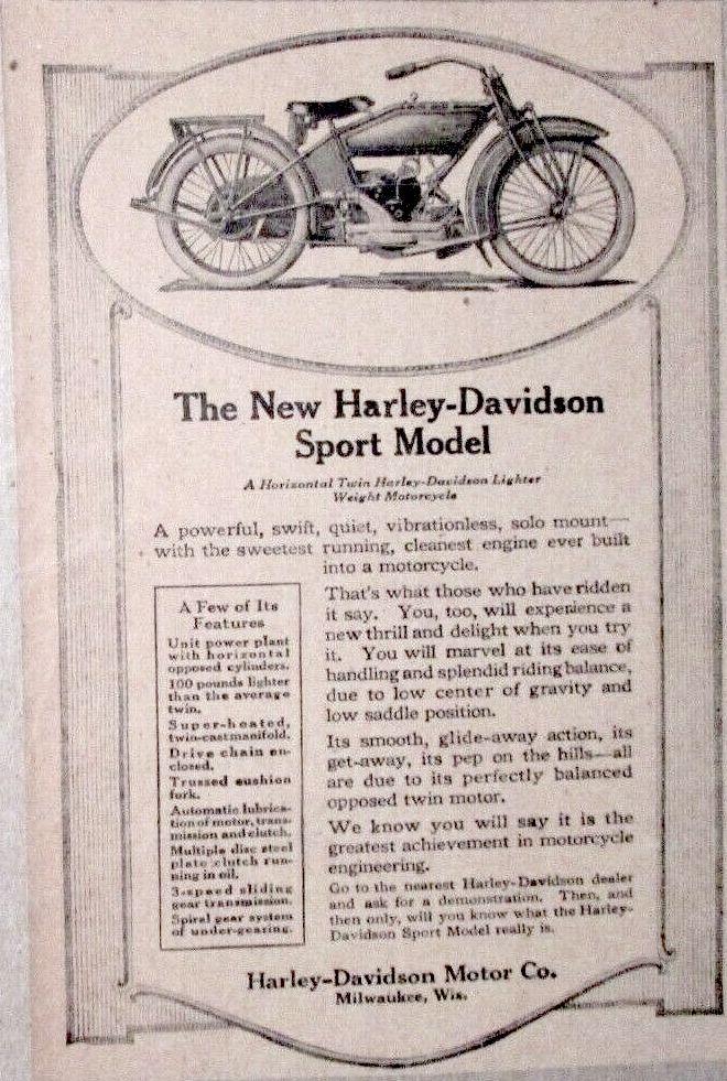 1919 - Harley-Davidson - The New Sport Model