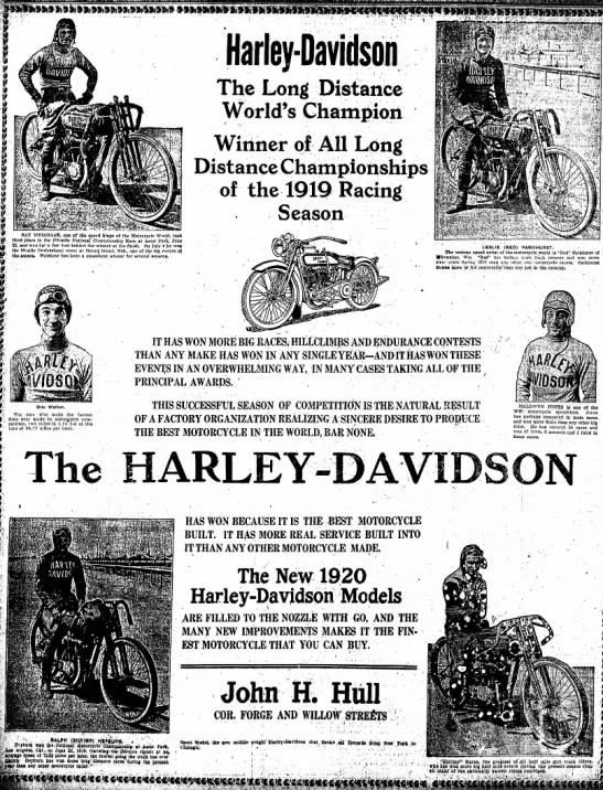 1919 - Harley-Davidson - The Long Distance
