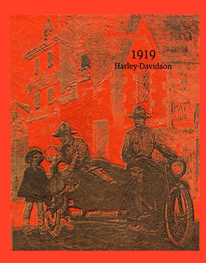 1919 - Harley-Davidson - Poster guerra