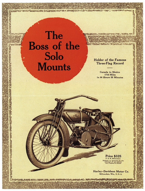 1919 - Harley-Davidson - The Boss of the Solo Mount