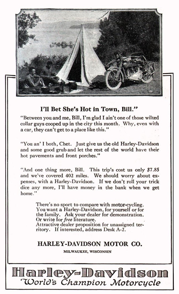 1921 - Harley-Davidson - Acampada