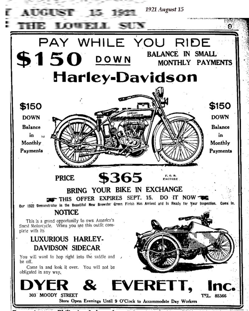 1921 - Harley-Davidson - Pay While you Ride