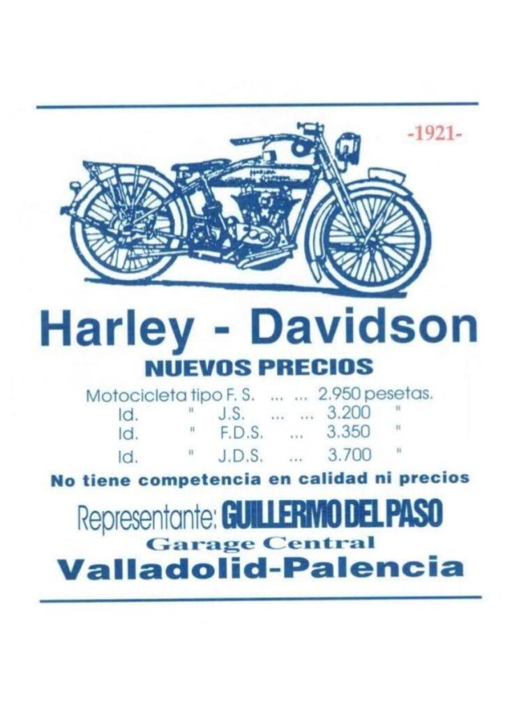 1921 - Harley-Davidson - Anuncio Valladolid