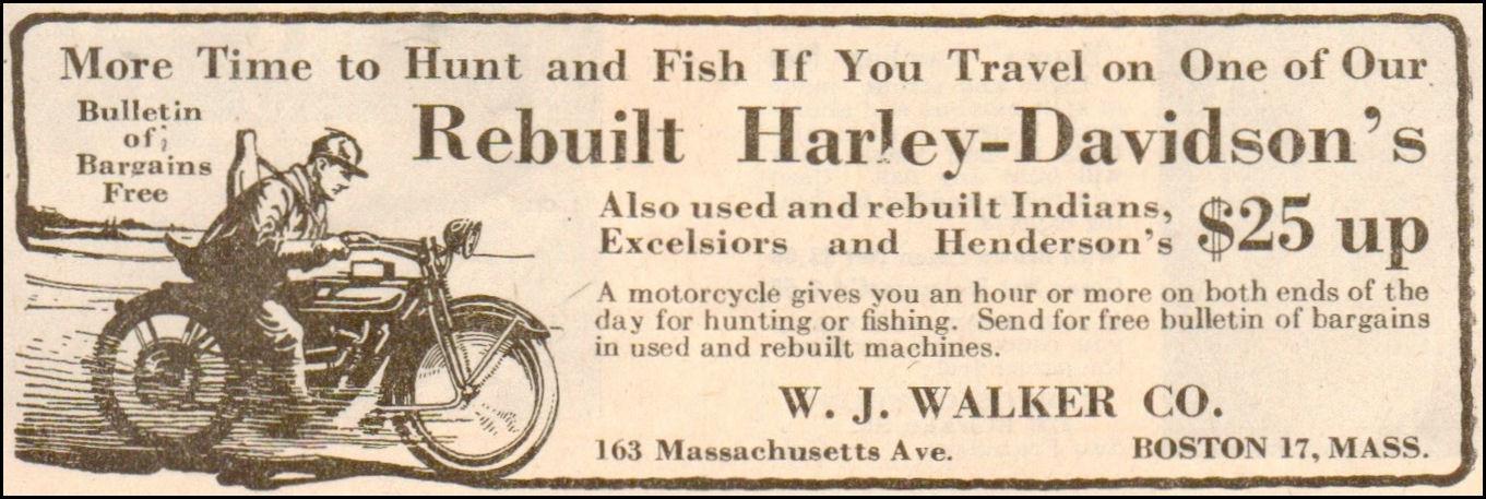 1922 - Harley-Davidson - Hunting and fishing