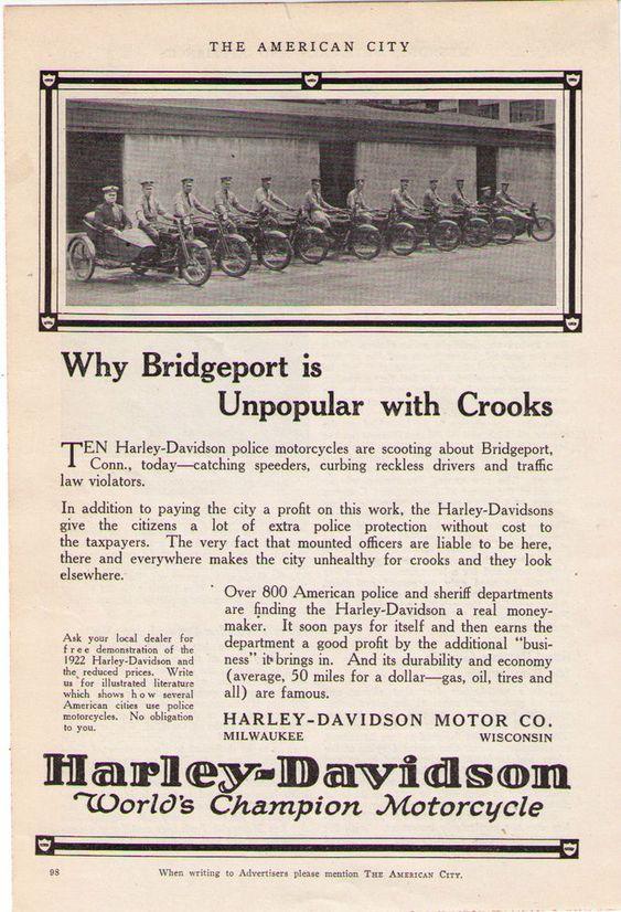 1922 - Harley-Davidson - Why Bridgeport