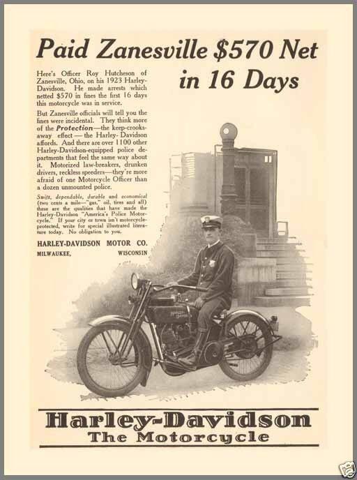 1923-harley-davidson Policia