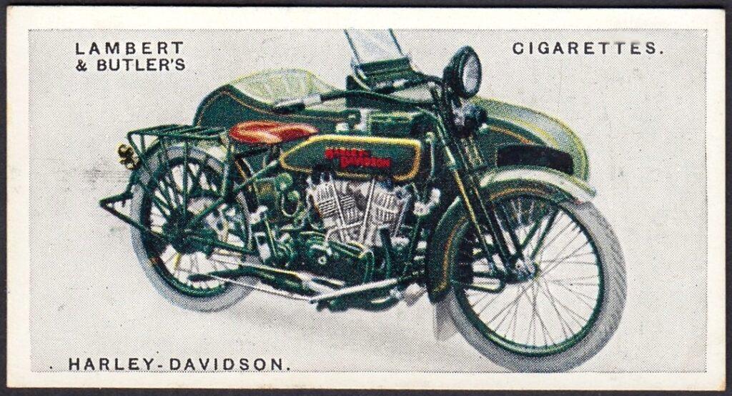 Harley-Davidson en caja de cigarrillos (1923)