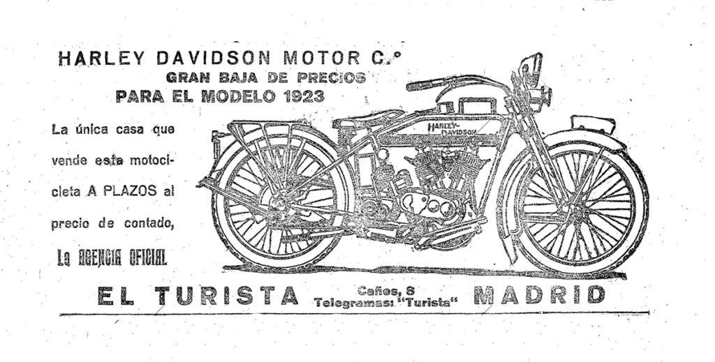 1923 - Harley-Davidson concesionario Madrid