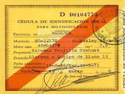 1978 - Cedula de identificación fiscal